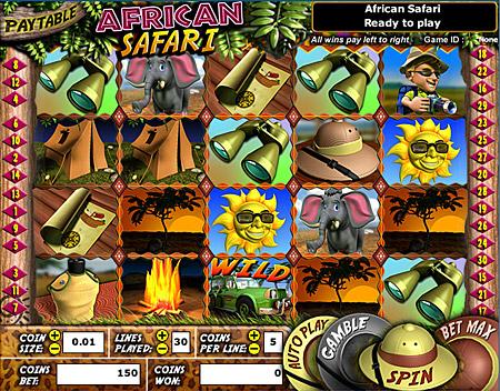 bingo liner african safari 5 reel online slots game