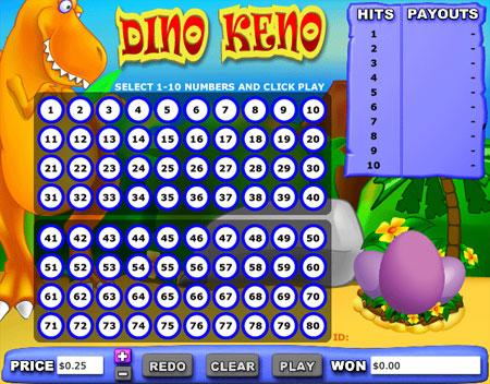 bingo liner dino keno online casino game