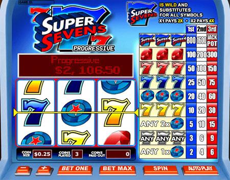 bingo liner super sevens 3 reel online slots game