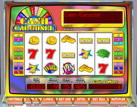 bingo liner cash carousel 5 reel online slots game