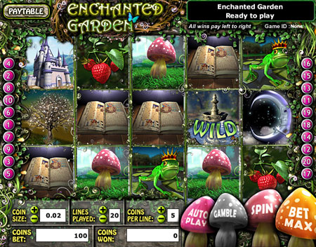 bingo liner enchanted garden 5 reel online slots game